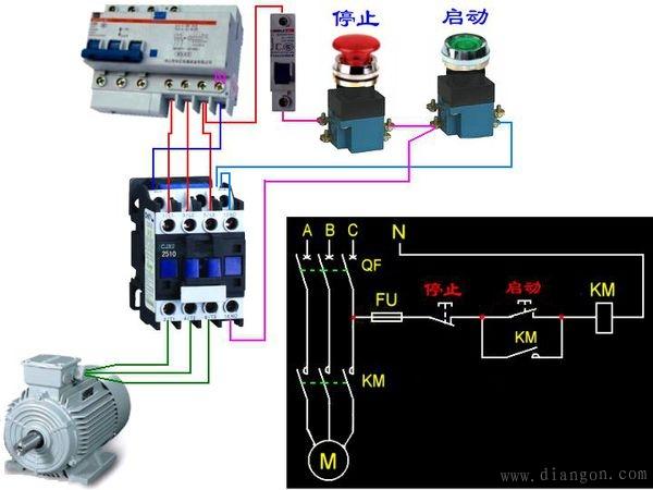 69 电工基础知识 69 220v交流接触器如何安装  简单的接法接电路