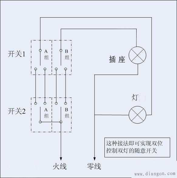 双开电源接线图解