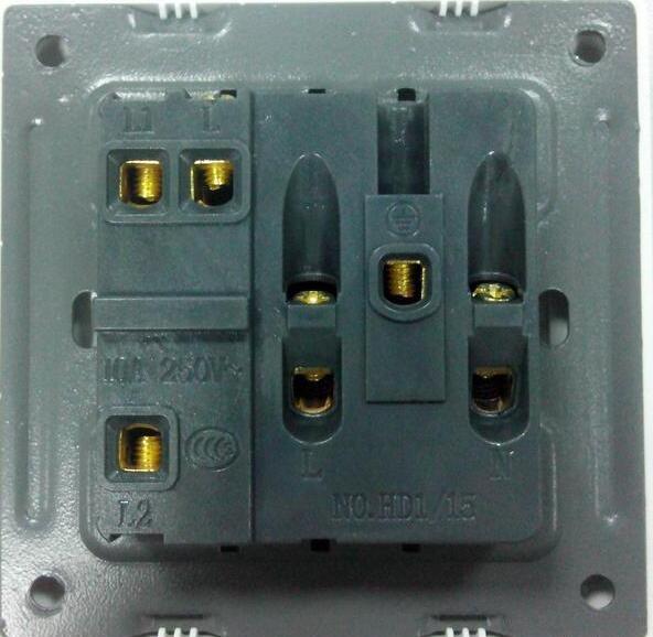 单开五孔插座接线图_单开五孔开关接线图_家用单开五孔插座的接法