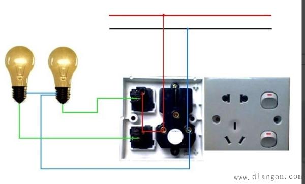 双控开关带插座接线图