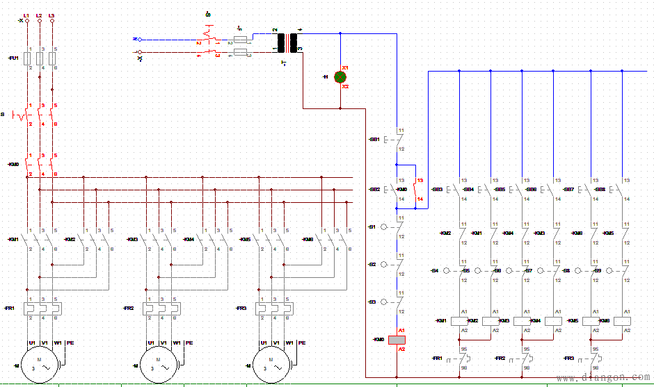行车控制电路图原理图