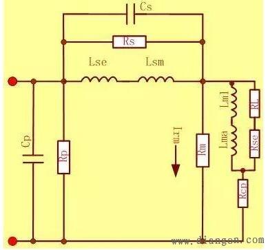 端口并联等效介质损耗电阻(次级线圈)   cs:初级和次级绕组间等效耦合