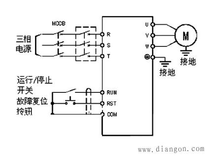 变频器实物接线图