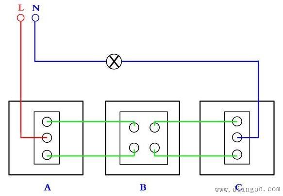 三控开关接线图实物图 - 电路图分享 电工论坛