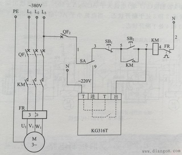 微电脑时控开关接线图 - 电路图分享_电工学习网