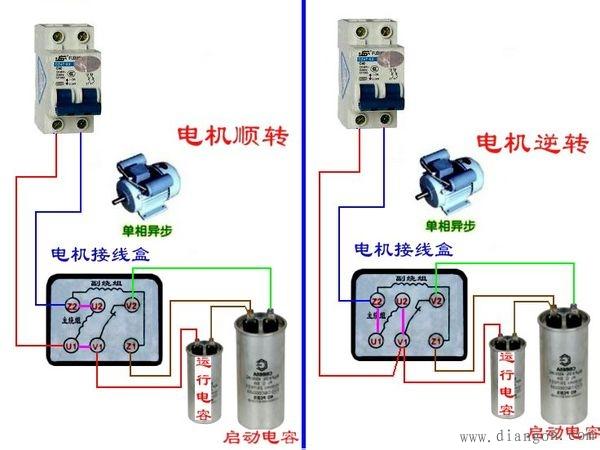 两相电机两个电容接线图