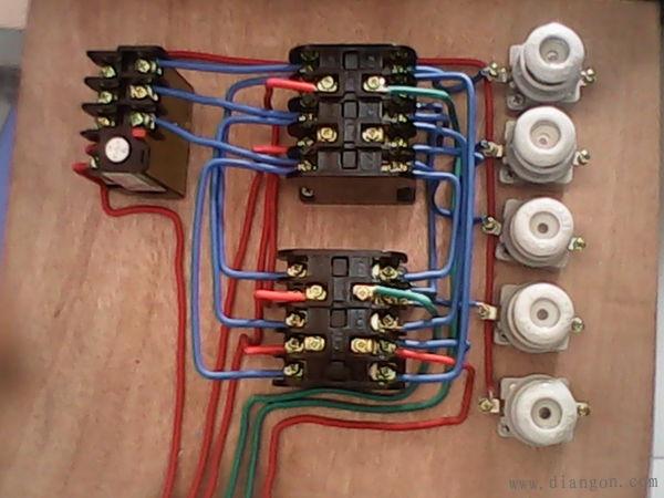 电工技术交流 69 电路图分享 69 接触器联锁正反转控制线路实物图