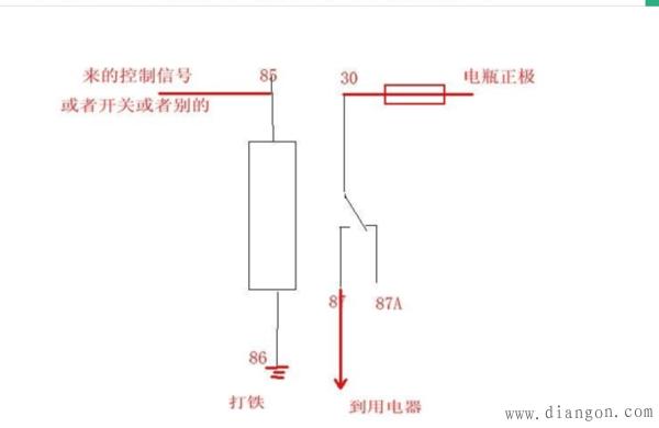 汽车继电器的接线方法