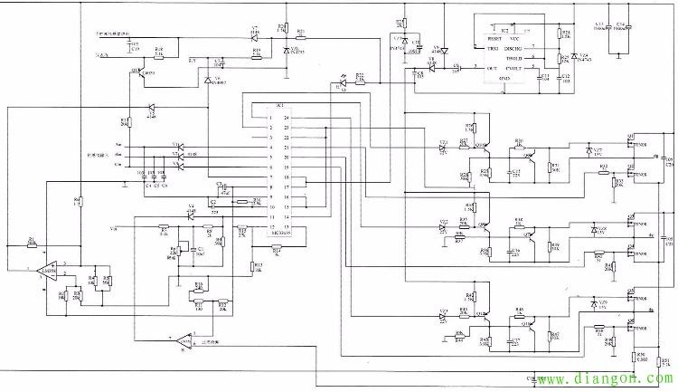 路易达48v电动车充电器原理图 - 电路图分享 电工论坛