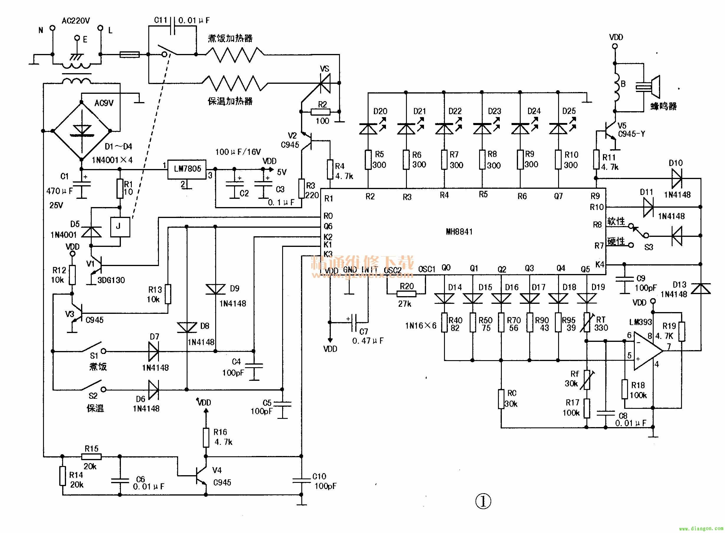 智能电饭煲工作原理图