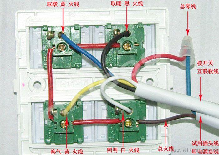 2.碳纤维浴霸接线图