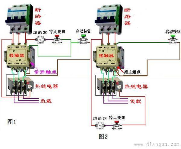 交流接触器自锁原理接线图