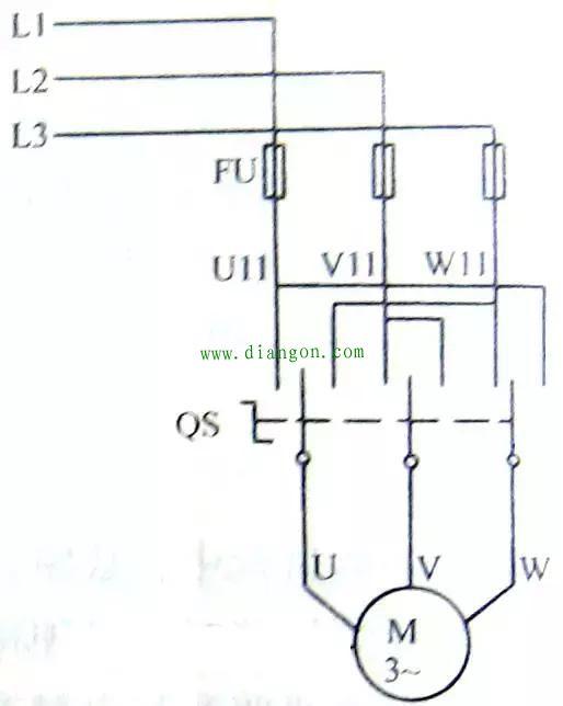 该电路是在带过载保护的自锁正转控制电路的自锁电路中串接一个手动开关SA。当SA断开时,电路工作在点动控制方式。当SA闭合时,电路工作在连续控制方式。 该电路是在带过载保护的自锁正转控制电路中增加了一个复合按钮开关SB3。未操作SB3时,电路工作在连续控制方式。操作SB3时,电路工作在点动控制方式。 正、反转控制电路1.