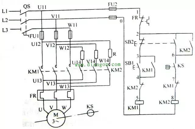 反接制动控制电路 能耗制动控制电路 制动控制电路图