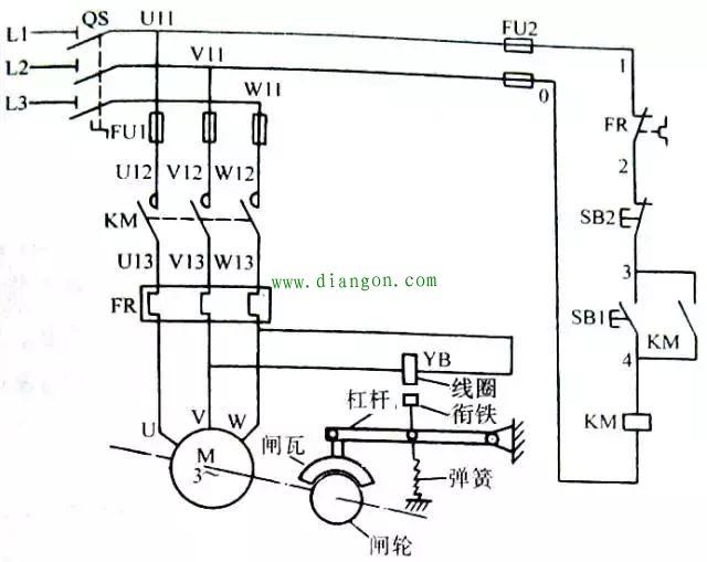 反接制动控制电路_能耗制动控制电路_制动控制电路图