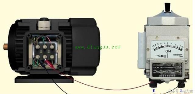 69 如何用摇表测电机的电阻判断电机的好坏  1,将电动机接线盒内6个