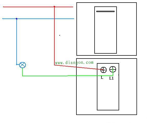 单联单控开关接线图实物图