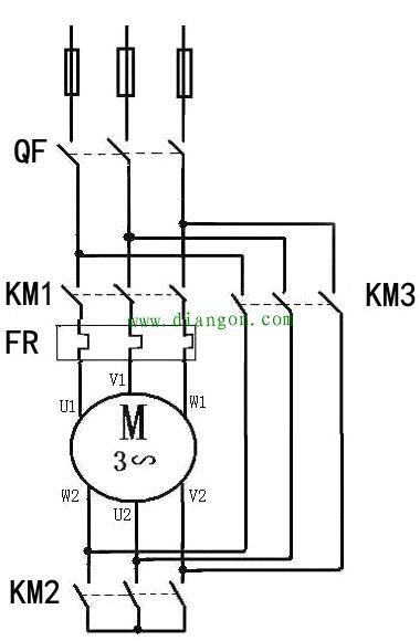 下图是星三角启动电路图的二次回路控制图
