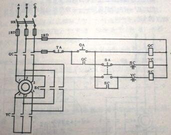 电动机星三角启动接触器接法