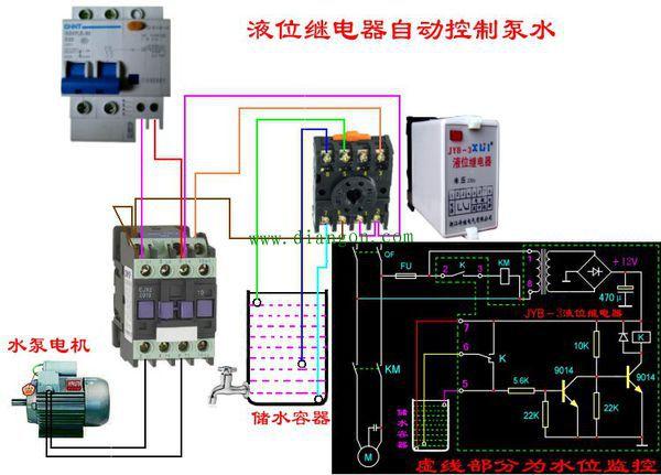 水泵自动控制电路图