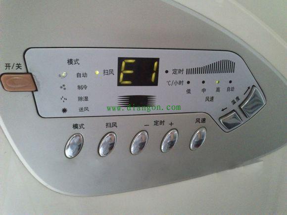 5,三星空调e1代表:室内感温包短路,室内感温包开路pcb部件的开路