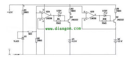 lm358碱性电池充电器电路图