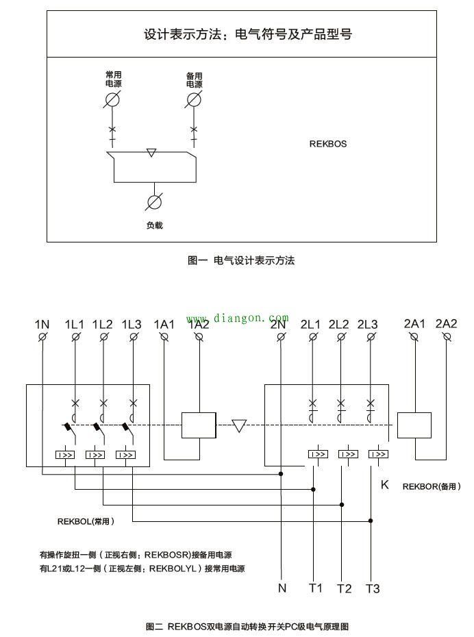 双电源自动转换开关接线图