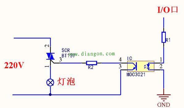 如何用单片机控制220v交流电的通断,不用继电器?