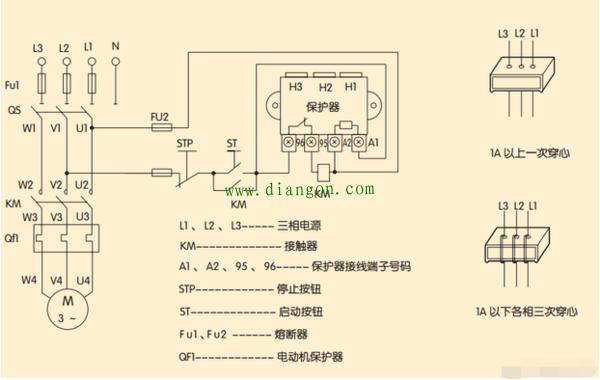 交流接触器接线方法      保护器是指针对电器提供用电安全保护的装置