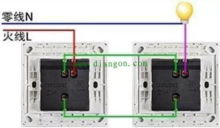 这是一种改进型的双开开关,只有一根电源进线,共用一个进线接线柱