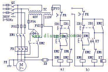 能耗制动控制电路原理图解