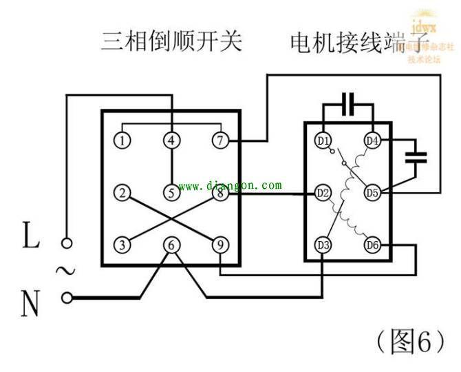 单相电机内部端子接线图