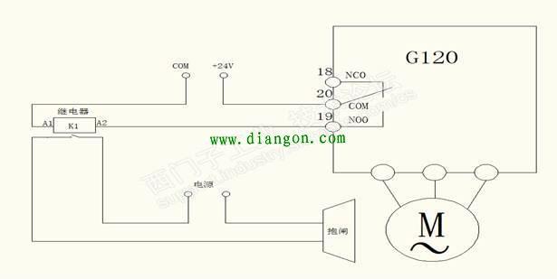 西门子g120电机抱闸连接方式