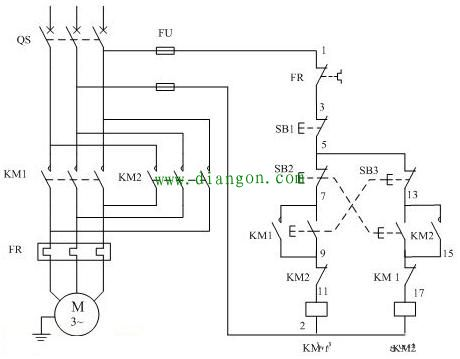 接触器实物接线图_380v/220v交流接触器接线图
