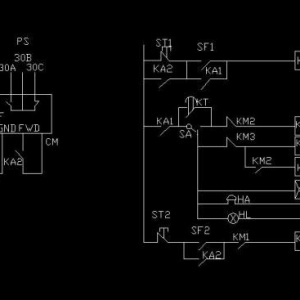 用继电器切换通用变频器变频与工频线路