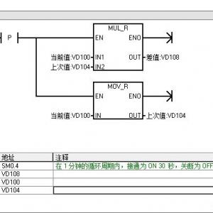 如何在西门子S7-200PLC中编写测量温度变化的程序?