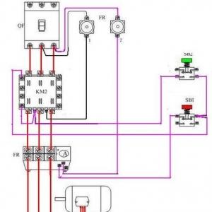 控制电路中的启动按扭一般是没有自锁功能的,按下去后就会弹起,所以要