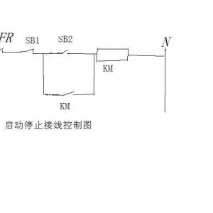 电动机  启动停止电路图_启动停止按钮接线图 fr----热继电器sb1---点