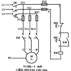 三相异步电动机自锁电路图