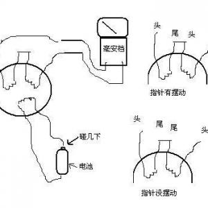 电动机极数/绕组头尾的检查方法