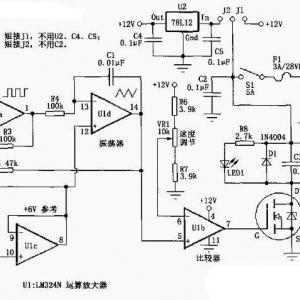 基于lm324的pwm直流电机调速电路图