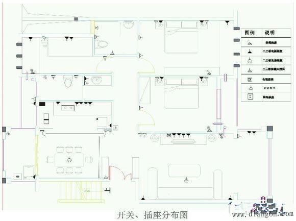 家装开关插座接线示意图 - 电工基础_电工学习网