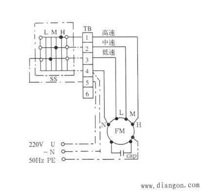 单相三速电机接线图_三相三速电机接线图