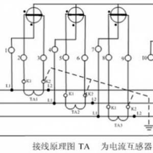 三相三线式和三相四线式电度表经电流互感器接线原理图