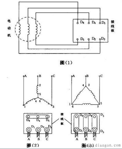 电机三角形和星形接法区别