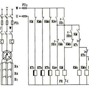 三相电动机转子电路中串联电阻启动控制电路工作原理