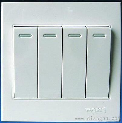 多开单控开关:面板上有n个键,每个键单独控制一个灯.