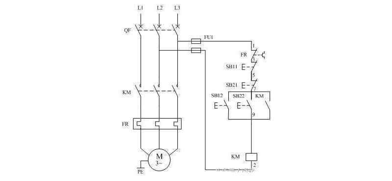 电动机异地控制电路实物图_电动机异地控制接线方法