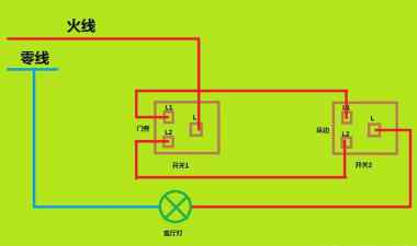 如何自己在家安装两个地方控制一个灯?