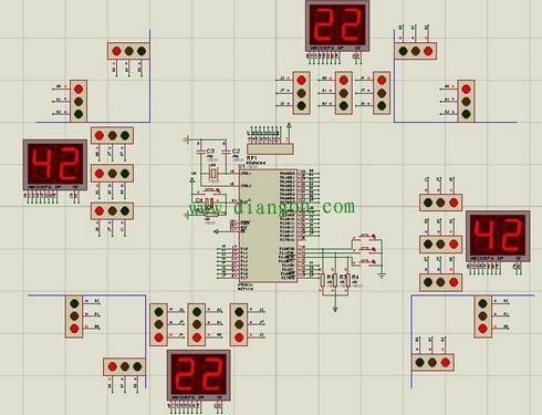 数字电路实现交通灯控制电路